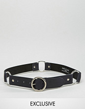 Retro Luxe London Ring Detail Leather Belt