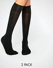 Gipsy 60 Denier 2 Pack Knee High Socks