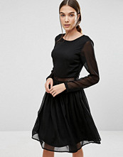 Y.a.s Marissa Long Sleeve Dress with Lace Insert