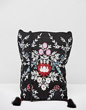 Reclaimed Vintage Embroidered Tassel Cross Body Bag