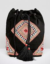 Reclaimed Vintage Beaded Tassel Bag