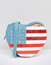 Skinnydip USA Flag Heart Cross Body Bag