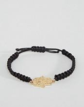 ASOS Hamsa Hand Cord Bracelet