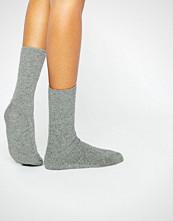 Johnstons of Elgin Grey Cashmere Ankle Socks