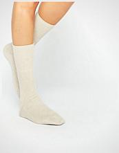 Johnstons of Elgin Cream Cashmere Ankle Socks
