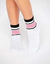 ASOS Glitter Stripe Rib Ankle Socks