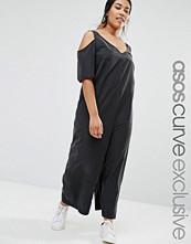 ASOS Curve Cold Shoulder Minimal Jumpsuit