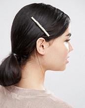 Love Rocks Gold Bow Hair Clip