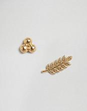 Orelia Leaf & Triple Bar Earrings