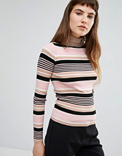 Miss Selfridge Stripe Roll Neck Jumper