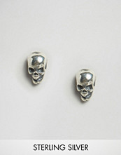 Regal Rose Edie Tiny Sterling Silver Skull Stud Earrings
