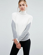 Miss Selfridge Zip Back Colourblock Jumper
