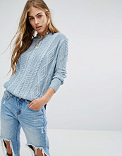 Pull&bear Mixed Cable Knit Jumper