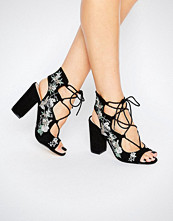 Miss Selfridge Floral Embroidered Sandal