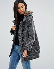 QED London Duffle Coat with Faux Fur Hood