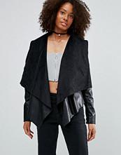 Glamorous Waterfall Faux Leather Jacket