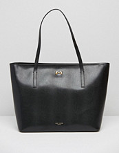 Ted Baker Leather Bow Shopper In Black