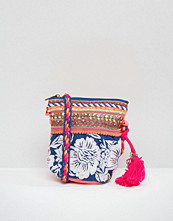 Glamorous Floral Embroidered Cross Body Bag