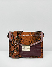 ASOS Snake Mix Cross Body Bag