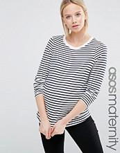 ASOS Maternity Stripe Crew Neck Long Sleeve T-Shirt