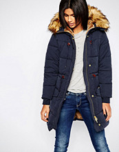Pepe Jeans Garland Parka with Faux Fur Hood