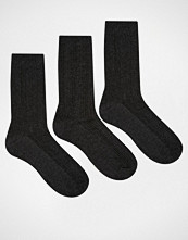 Lovestruck 3 Pack Socks In Grey Cable Knit