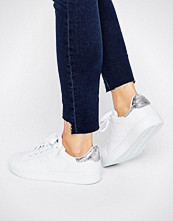 Missguided Metallic Snake Tab Trainers