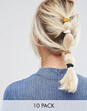 ASOS Basics Pack of 10 Metallic Hair Ties