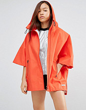 Converse Red Rubber Hooded Poncho Jacket
