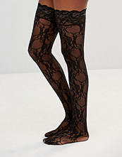 Leg Avenue Stay Up Floral Lace Stockings