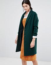 Helene Berman Ovoid Ema Coat In Green