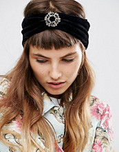 ASOS Velvet Brooch Turban Headband