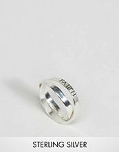 ASOS Sterling Silver Hope Faith Interlocking Rings