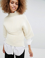 J.O.A Chunky Boxy Knitted Top