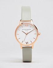 Olivia Burton Midi Dial Grey Leather Watch OB16MDW05