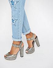 Head Over Heels By Dune Myli Gold Platform Heeled Sandals