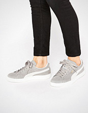 Puma Classic Suede Basket Trainers In Grey