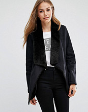 Pepe Jeans Laurie Suede Waterfall Coat