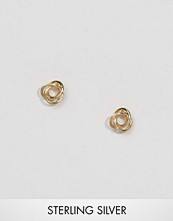 ASOS Gold Plated Sterling Silver Knot Stud Earrings