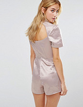 Fashion Union High Neck Playsuit With Open Back