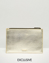 Skinnydip Exclusive Zip Top Pouch Bag in Gold