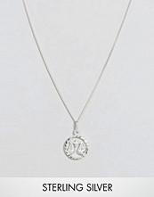 Reclaimed Vintage Sterling Silver Libra Zodiac Necklace