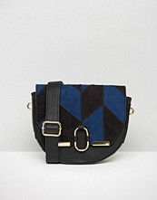 Faith Suedette Saddle Bag in Patchwork