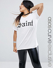 ASOS Curve HALLOWEEN Saint & Sinner Reversible T-Shirt