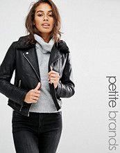 Miss Selfridge Petite Leather Look Jacket