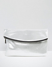 ASOS NIGHT Curved Foldover Clutch Bag