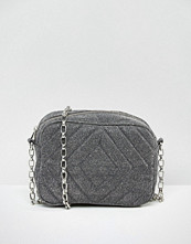 ASOS NIGHT Quilted Glitter Cross Body Bag