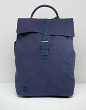 Mi-pac Canvas Fold Top Backpack in Navy