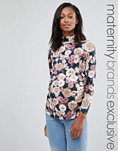 Bluebelle Maternity Funnel Neck Jersey Top