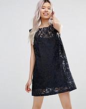 Ganni City Hall Lace Shift Dress in Dress Blues